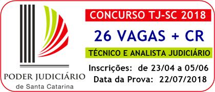 Concurso Público TJ-SC 2018