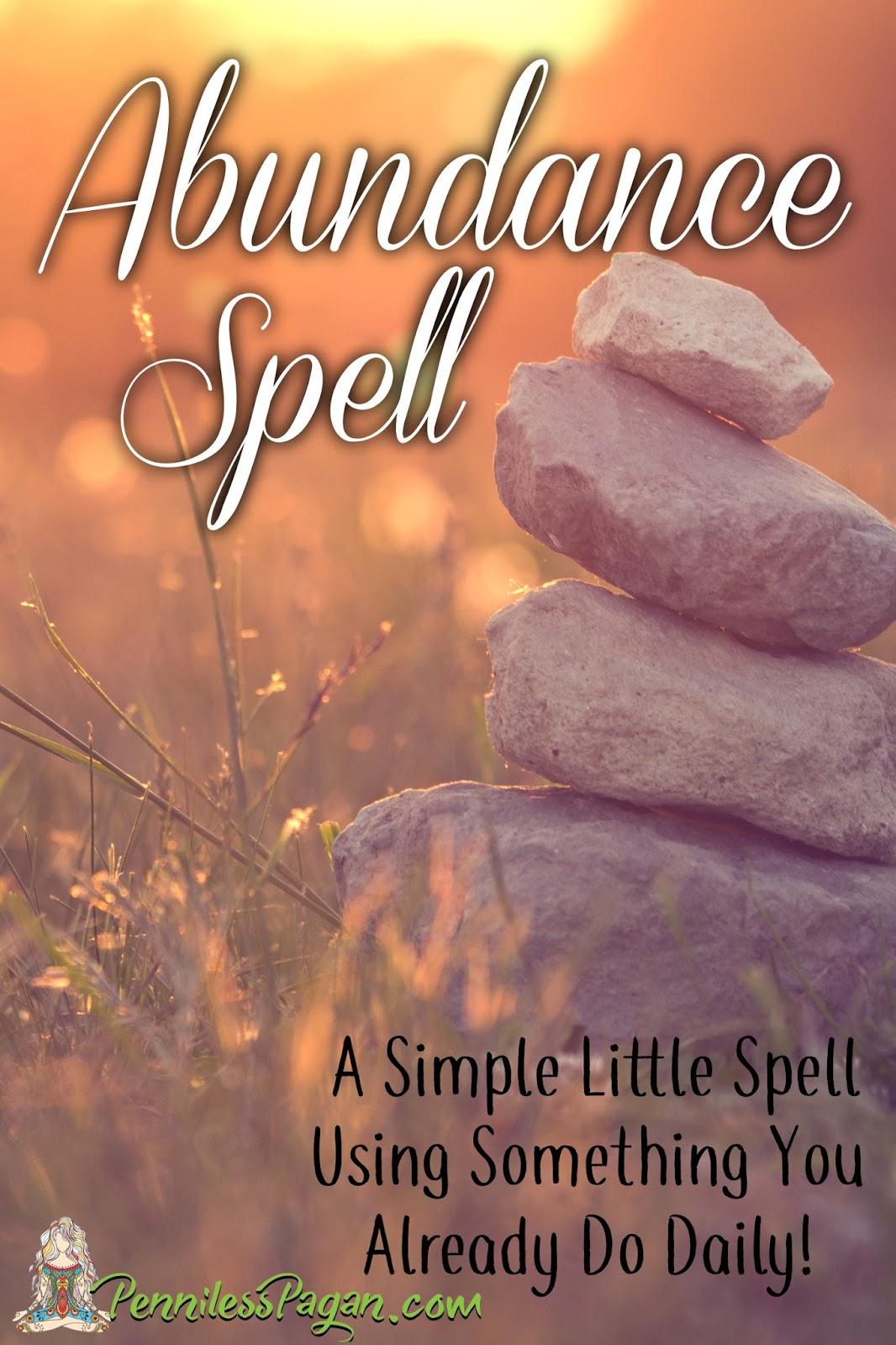 Penniless Pagan: Simple Little Abundance Spell