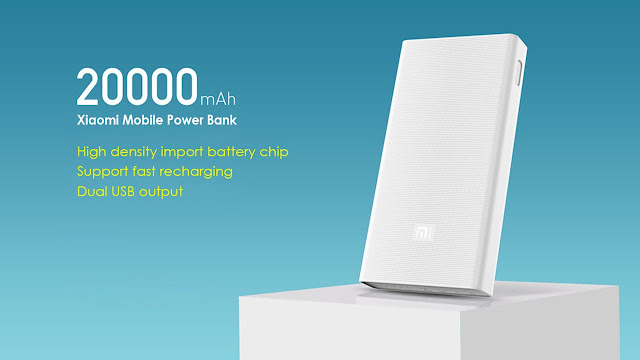 Xiaomi Power Bank Berkapasitas 20.000mAh