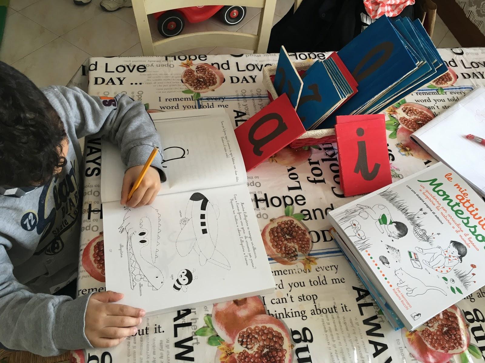 Homeschooling Per Due Il Mio Quaderno Montessori Le Lettere I