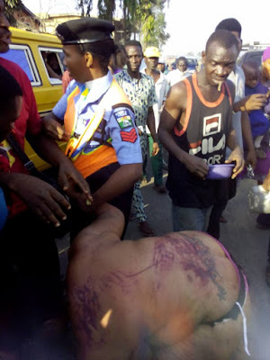2 Men And A Female Kidnappers Stripped And Beaten