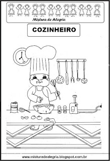 Desenho de cozinheiro para colorir