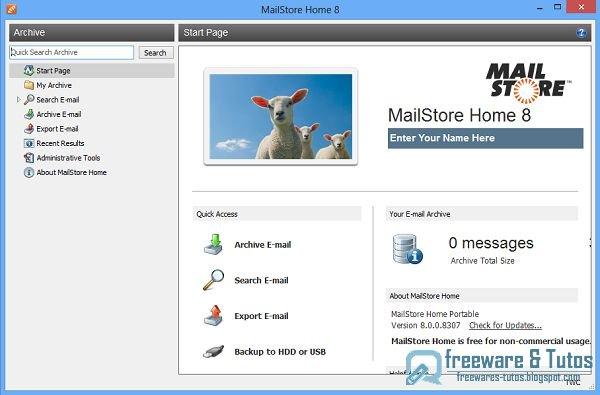 MailStore Home : un logiciel gratuit pour sauvegarder vos mails