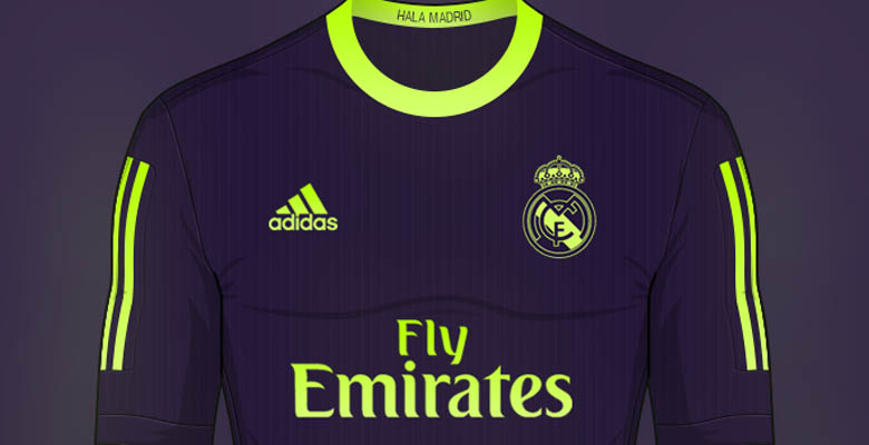 57f91aeb1 Franco's Real Madrid Concept Away Shirt combines Real Madrid's iconic away  kit color purple with striking hi-vis yellow to stand out, inspired by the  purple ...