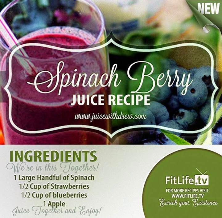 hover_share weight loss - spinach berry juice recipe
