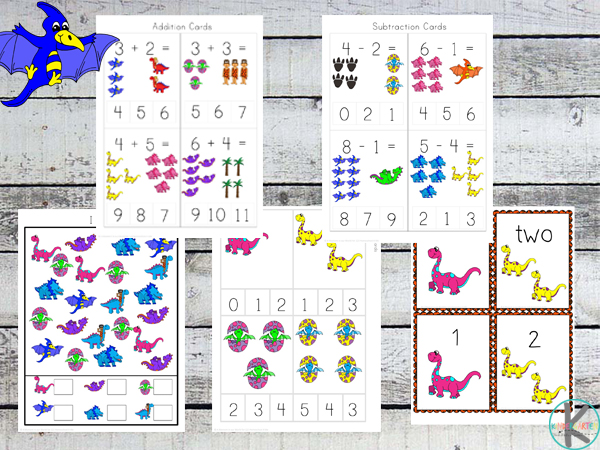 Free Dinosaur Math Worksheets