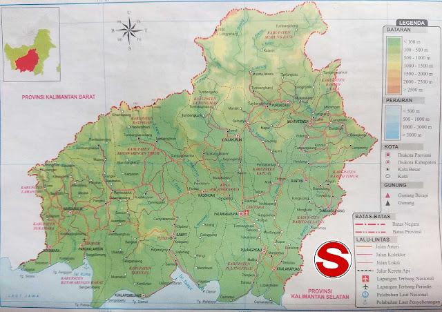 Gambar Peta Atlas Provinsi Kalimantan Tengah