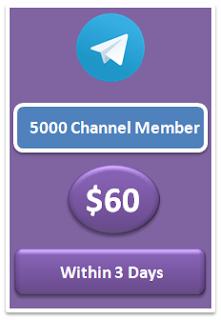 5000 telegram channel member