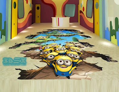 epoxy painted 3d flooring for kids area in restaurants and hotels
