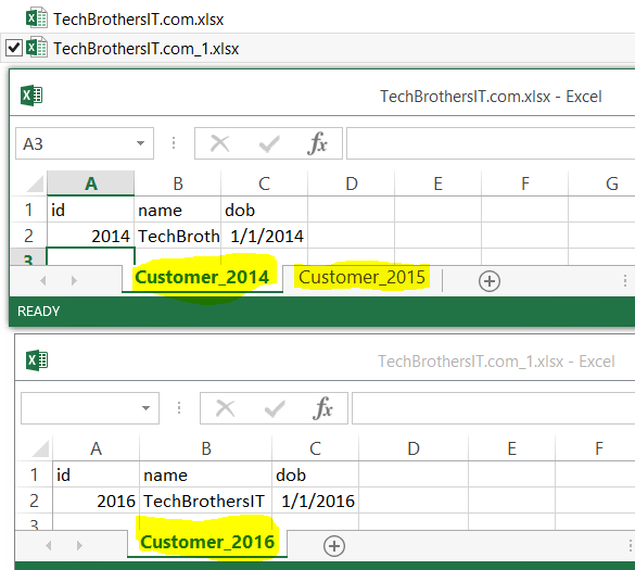 Welcome to techbrothersit how to load excel file name and sheet how to load excel files with single or multiple sheets to sql server table with file name and sheet name in ssis package by using script task ibookread