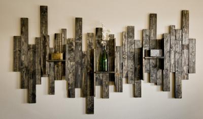 hiasan dinding mewah dari kayu bekas