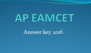 AP EAMCET Answer key 2016 Exam Cut Off