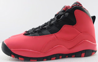 purchase cheap 43cca 1e308 This Girl s Air Jordan 10 Retro GS was made for the ladies. They come in a  fusion red, black and laser orange colorway. Featuring a red based nubuck  upper ...