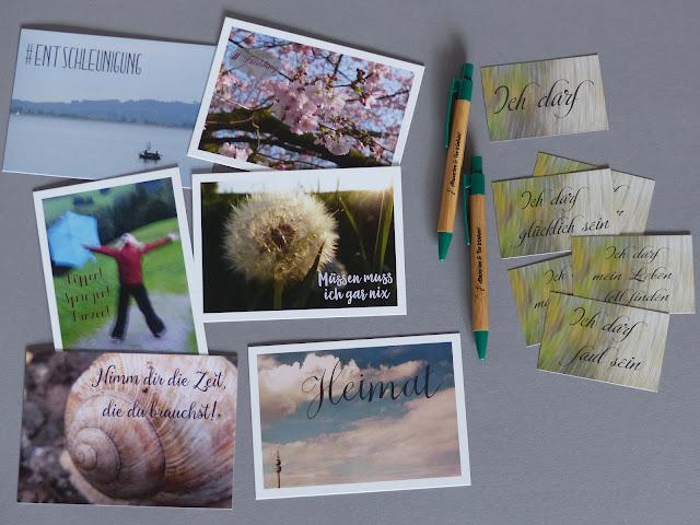Shop Dawanda Fräuleins wunderbare Welt Produkte Ich-darf-Karten Postkarten Kugelschreiber Achtsamkeit Entschleunigung Depression Burn-Out Selbsthilfe