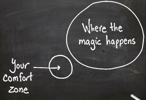 A mágica acontece fora da sua zona de conforto