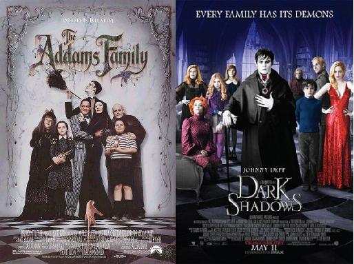 Commentaramafilms Dark Shadows 2012 V The Addams Family 1991