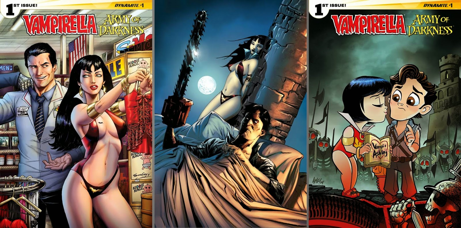 Vampirella / Army of Darkness #1 cover