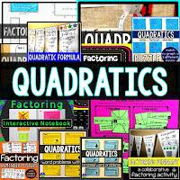 Quadratics Activity Bundle to differentiate quadratics for all students