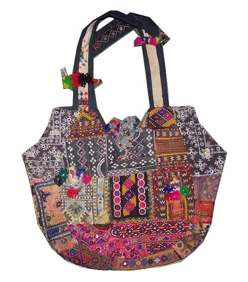 Old Textiles Bags Vintage Tribal Zipsy Ethnic Decorative Designer Handbags Latest Fashion Travel Bag Embroidery