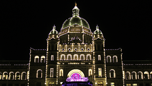British Columbia Parliament Buildings Lights
