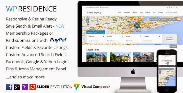 WP Residence v1.08 Real Estate WordPress Theme