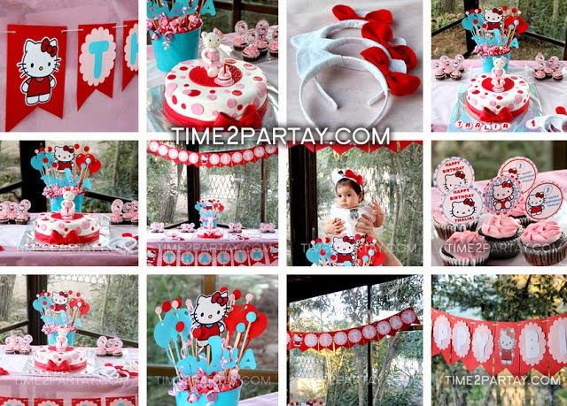 Hello Kitty First Birthday Theme party & 34 Creative Girl First Birthday Party Themes u0026 Ideas - My Little Moppet