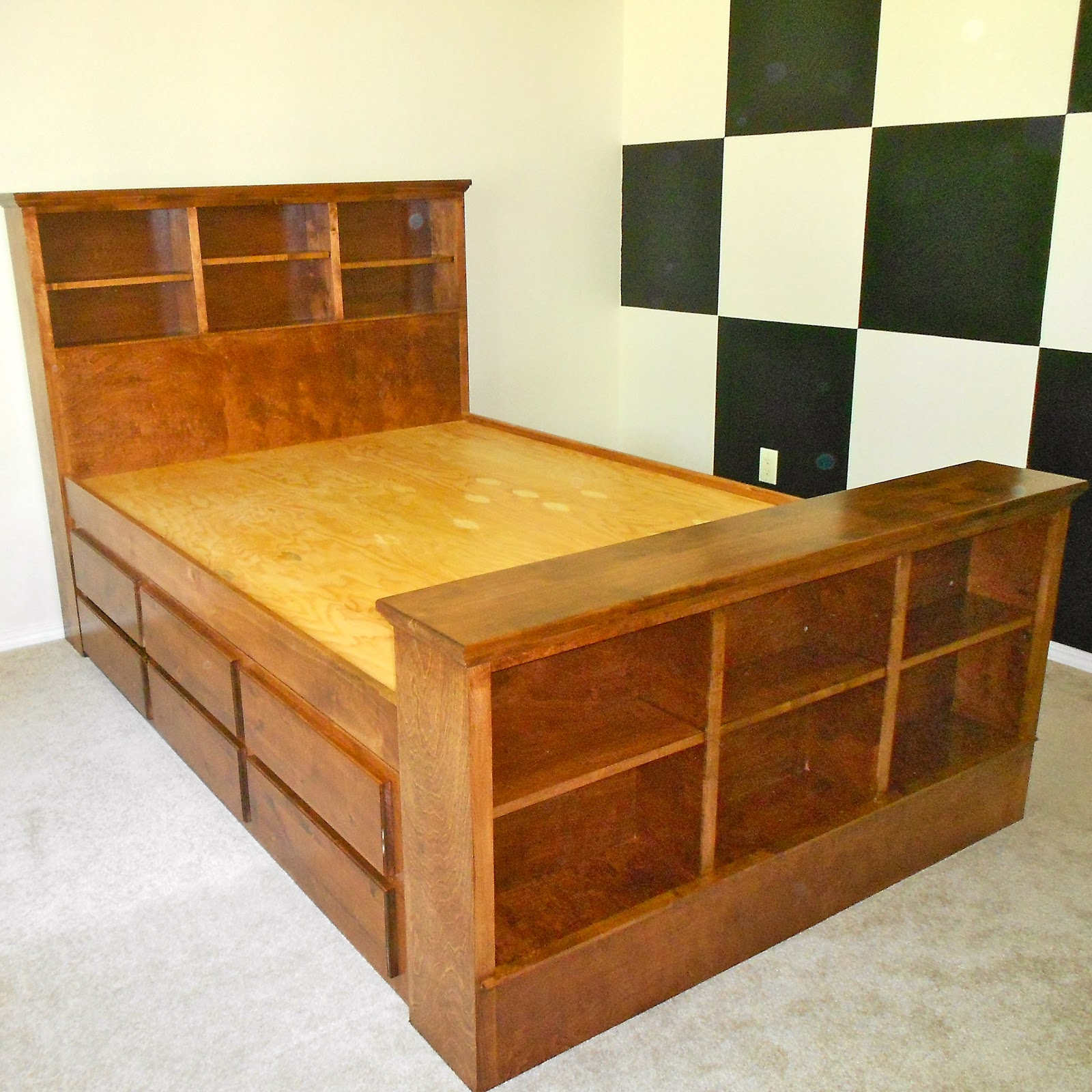 Architectural Wood Designs Custom Order Captains Trundle Bed