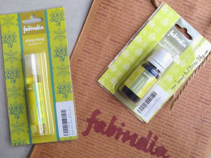 FabIndia - Ylang Ylang Perfume Oil and Lemongrass Essential Oil.