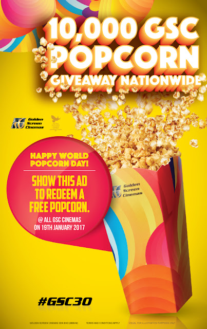 GSC Cinemas Free Popcorn Day Giveaway Ad