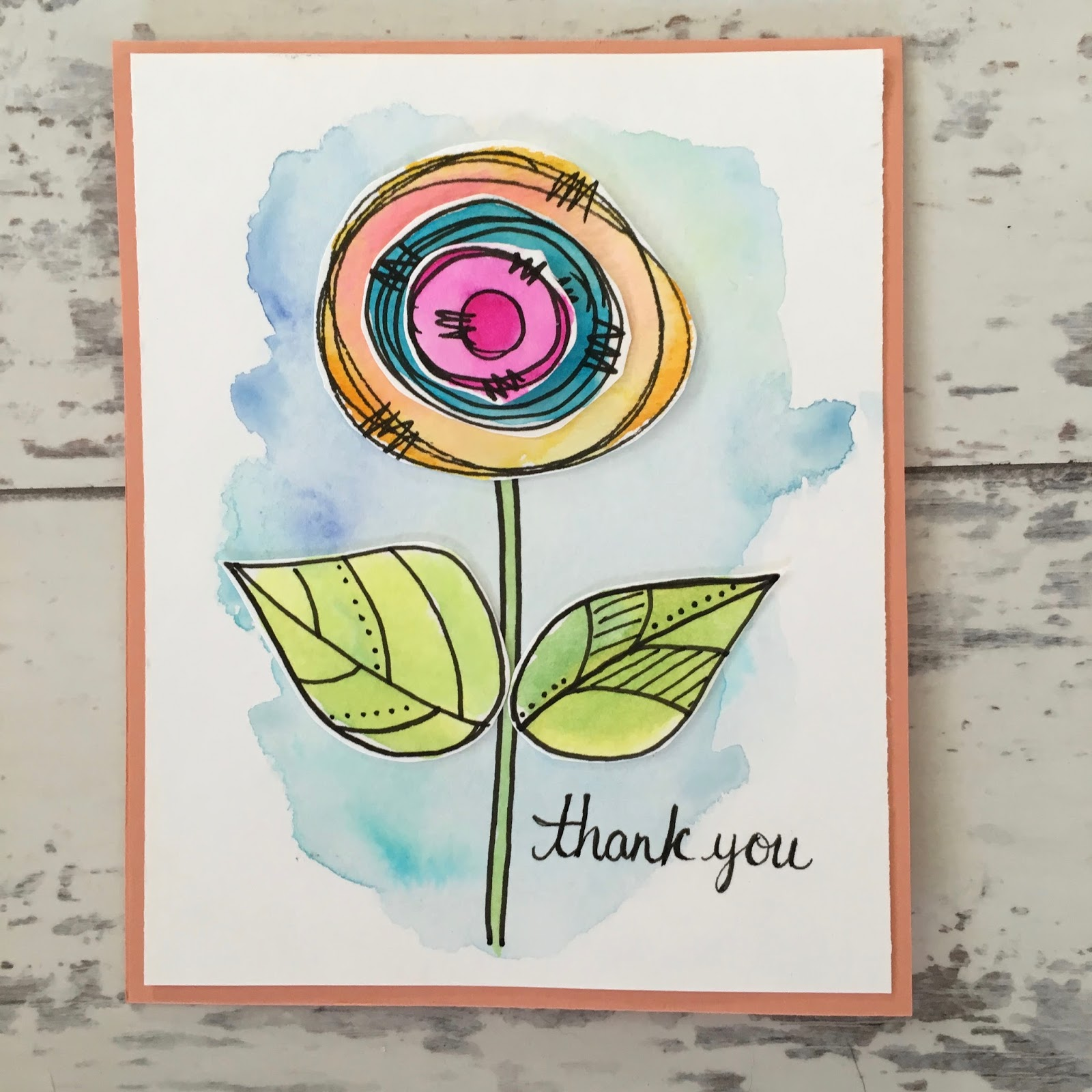 how to draw thank you card