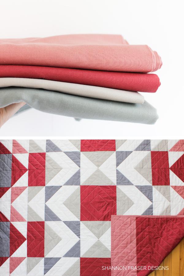 Fabrics in the Mod-Rose Modern Aztec Quilt | Shannon Fraser Designs