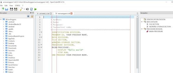 Download Open Cobol IDE 4.7.6 Terbaru