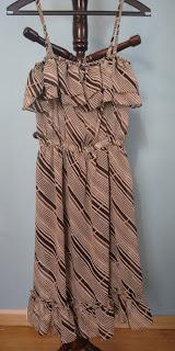 vestido listrado Banila tamanho M