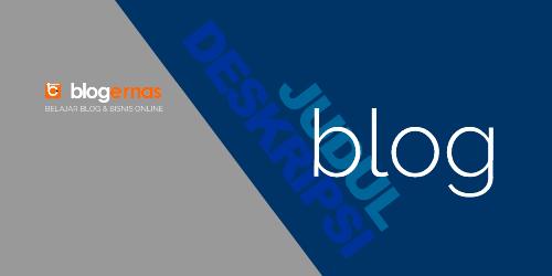 Cara Mengganti Warna Judul & Deskripsi Blog