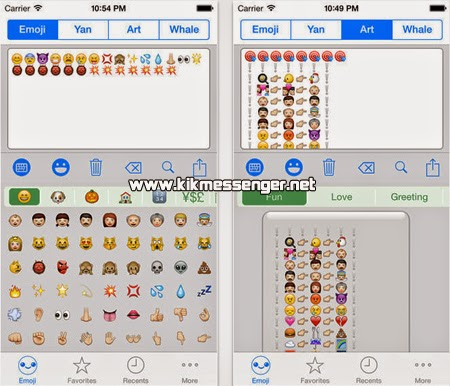 Emoticones y caritas con Emoji Free Emoticon for Kik