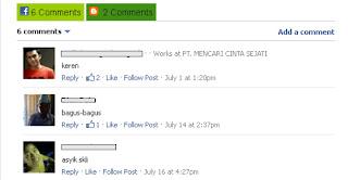 komentar facebook dan blogger berdampingan