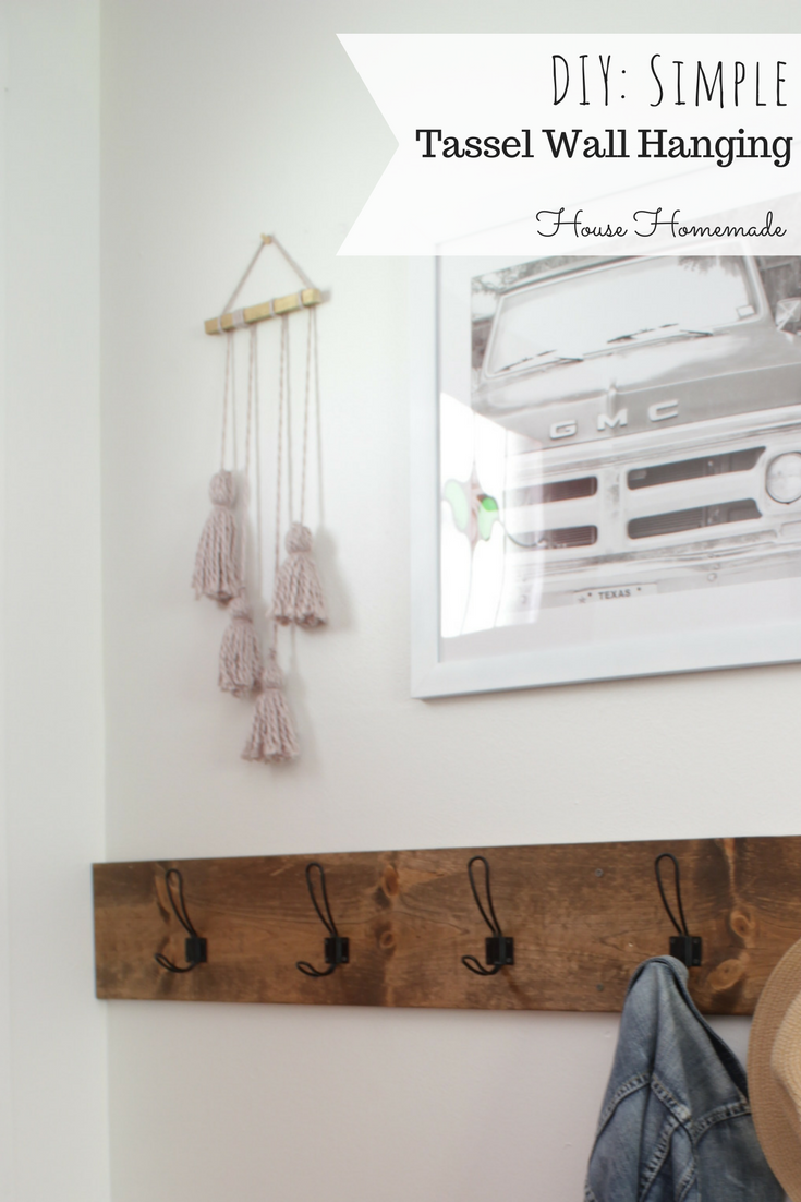 Simple tassel wall hanging