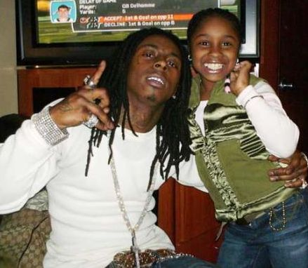 Lil Wayne With Daughter To Celebrate Graduation