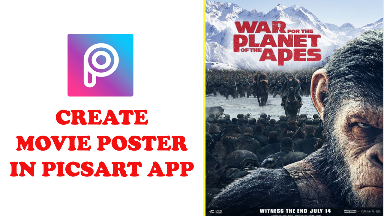 Vt54 create movie poster in picsart tutorial mobile editing in this article we will learn how to create a movie poster in picsart app note you can create same in photoshop also with same method baditri Gallery