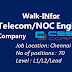 Walk in for Telecom/NOC Engineer