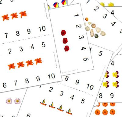 karty do nauki liczenia dla dzieci dowydrukowania