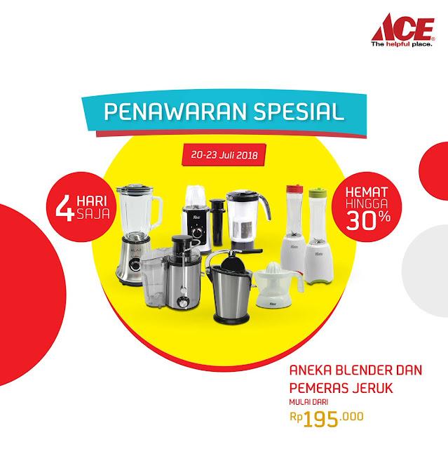 AceHardware - Promo 4 Hari Penawaran Spesial + Hemat s.d 30& (s.d 23 Juli 2018)
