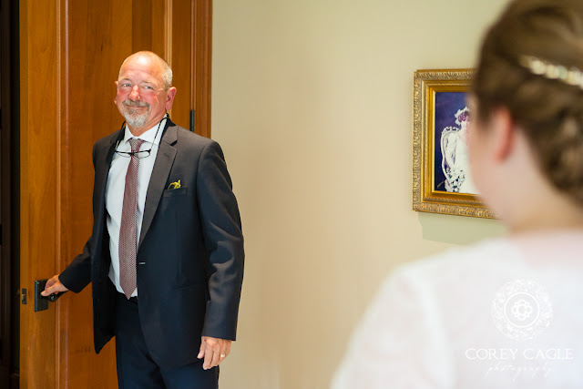 father of the bride's first look | Corey Cagle Photography