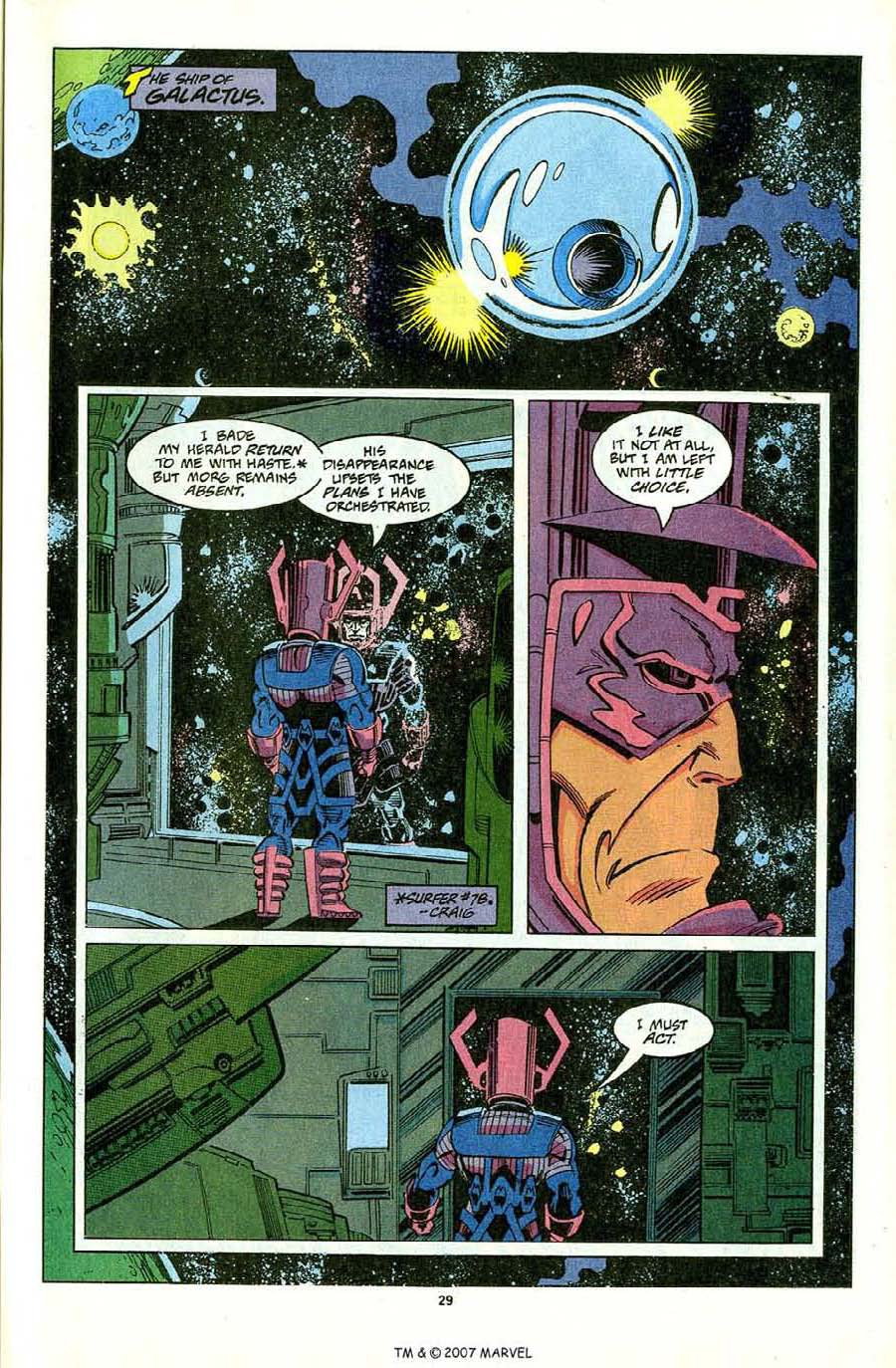 Read online Silver Surfer (1987) comic -  Issue #81 - 31