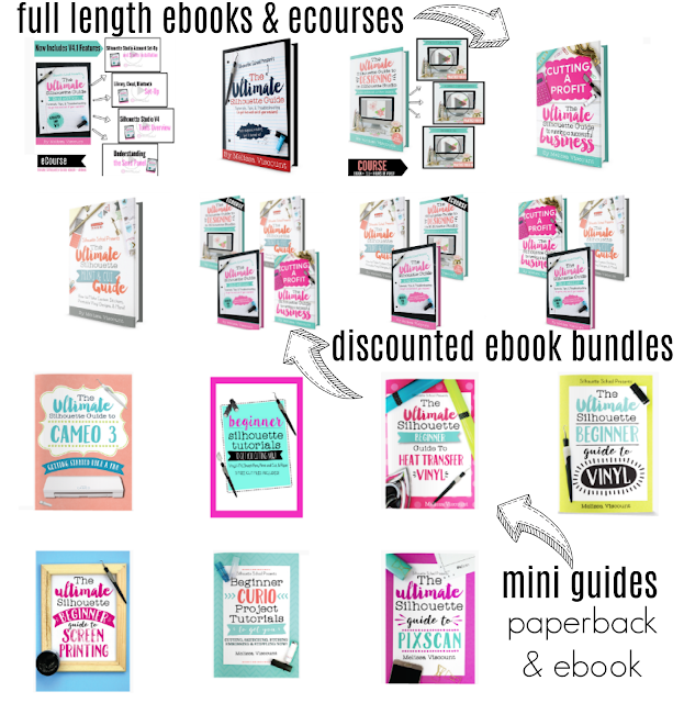 silhouette guide books, silhouette books, silhouette help, silhouette for dummies, ultimate silhouette guide