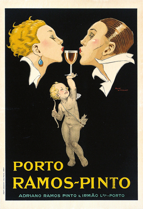 Porto Ramos Pinto by Rene Vincent - Vintage French Wine Poster, advertising, classic posters, food, free download, free posters, free printable, french poster, graphic design, printables, retro prints, vintage, vintage posters, vintage printables