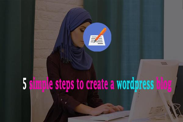 create wordpress blog