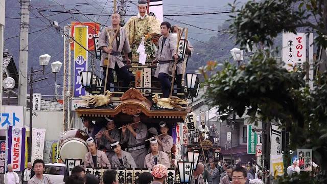 Festival at Shimonita Suwa Jinja Shrine, Gunma Pref.