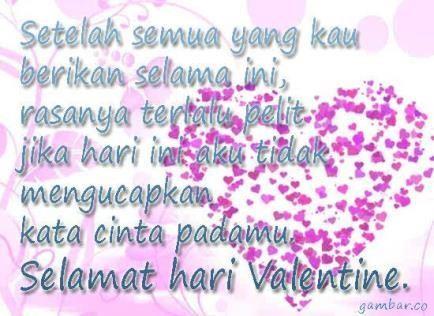 kata kata romantis di hari valentine