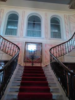 Schody do apartamentów w Pałacu w Walewicach-2015